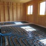 Pose plancher chauffant à l'étage